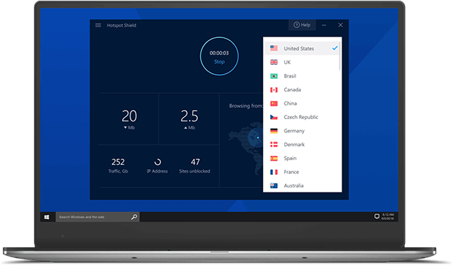 Hotspot Shield pour Windows