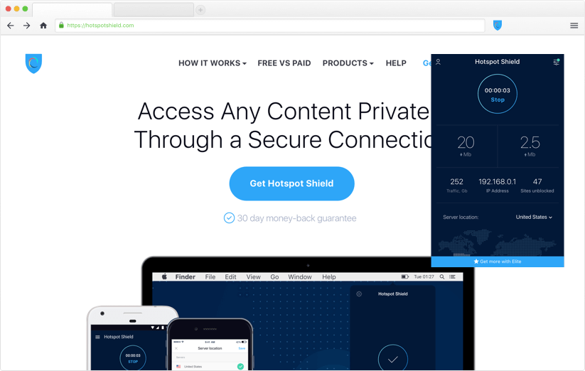 Free Chrome VPN Extenstion | Hotspot Shield